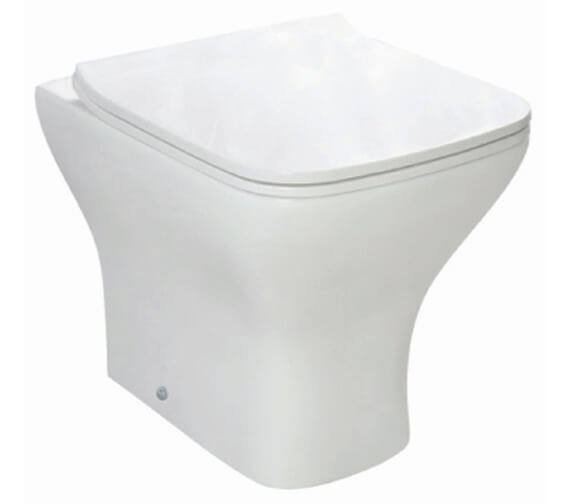Harrison Bathrooms Porto Back to Wall Toilet With Slimline Seat