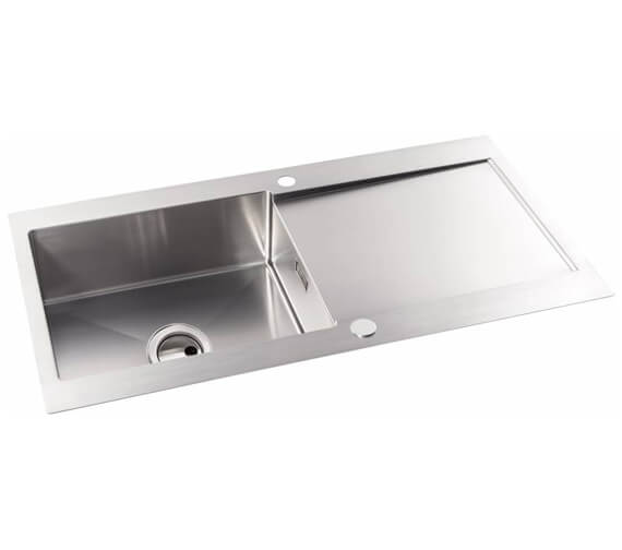 Abode Verve Stainless Steel 1.0 Reversible Kitchen Sink Bowl And Drainer