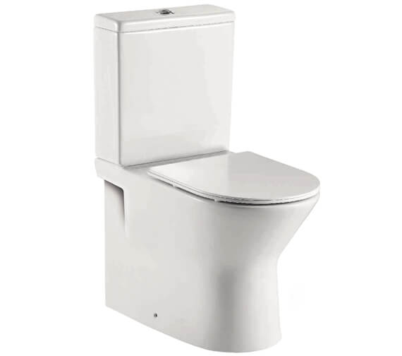 Harrison Bathrooms Life Rimless 380mm Back To Wall WC Pan With Soft Close Seat And Cistern