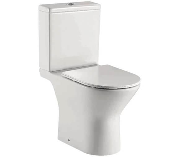 Harrison Bathrooms Life Middleton 380mm Rimless Open Back Pan And Soft Close Seat And Cistern