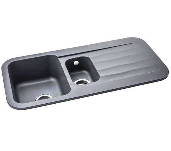 Additional image of Abode Dune Reversible 1.5 Kitchen Sink Bowl And Drainer