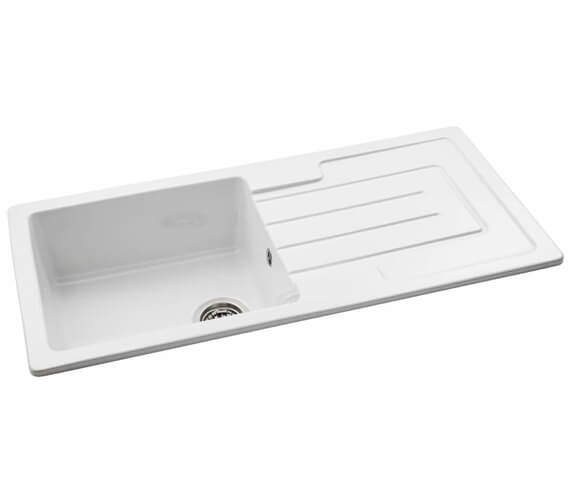 Abode Acton Reversible 1.0 Kitchen Sink Bowl And Drainer