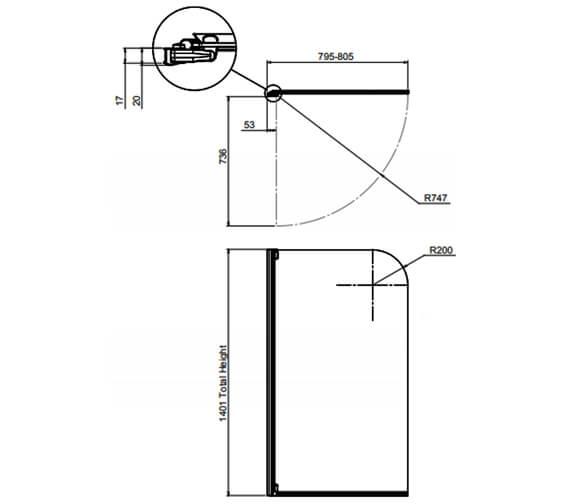 Technical drawing QS-V41672 / 1160283