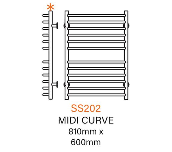Technical drawing QS-V43795 / SS202