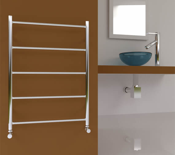 SBH Midi Flat 5-Bar Towel Radiator 600mm x 810mm