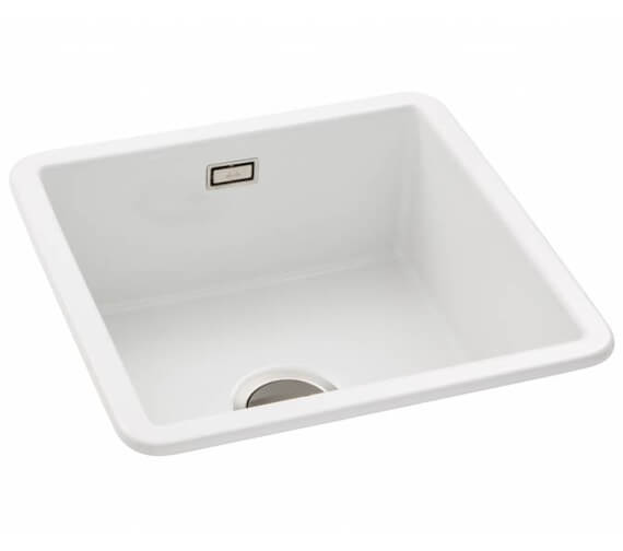 Abode Sandon Ceramic 1.0 Kitchen Sink Bowl