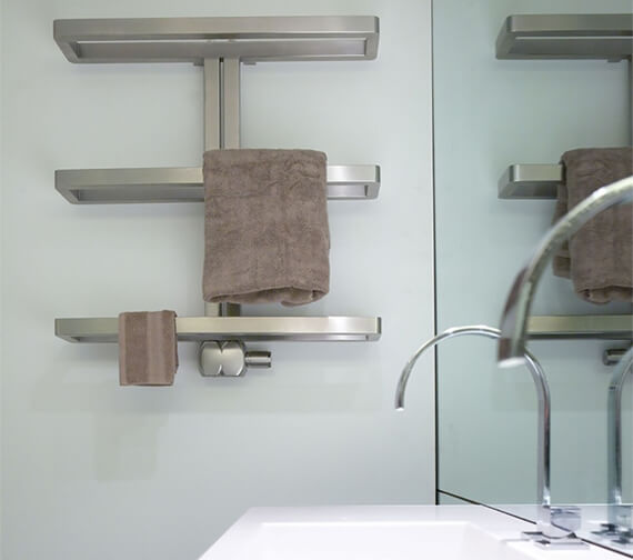 Additional image of Aeon Gallant 780 x 750mm Stainless Steel Heated Towel Rail