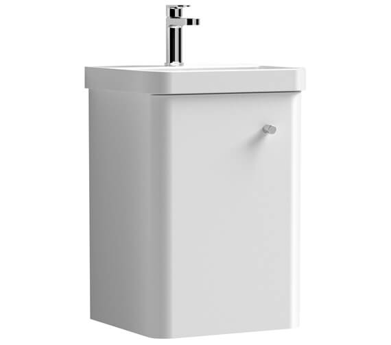 Nuie Core 405 x 355mm Wall Hung Single Door Vanity Unit And Basin