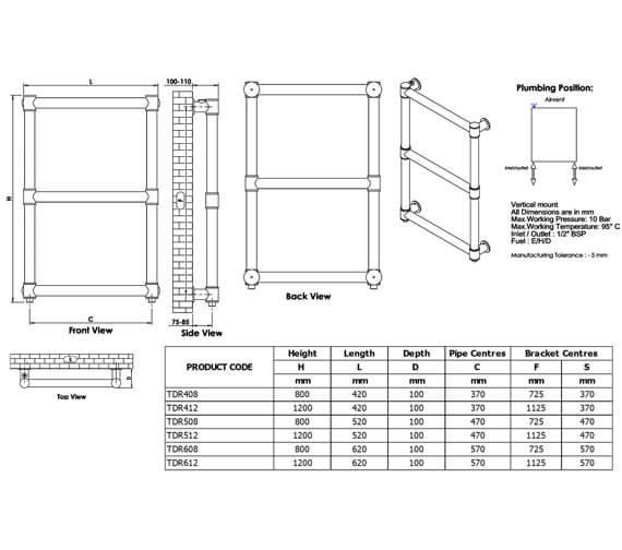 Technical drawing QS-V96286 / TDR408S