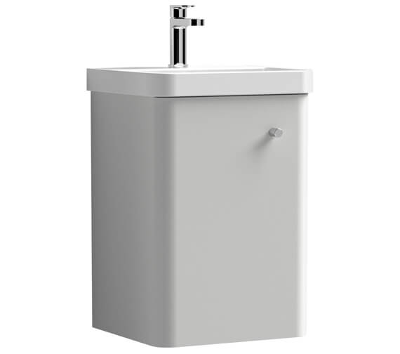Additional image of Nuie Core 405 x 355mm Wall Hung Single Door Vanity Unit And Basin