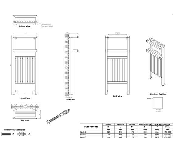 Technical drawing QS-V96066 / GALL-1S