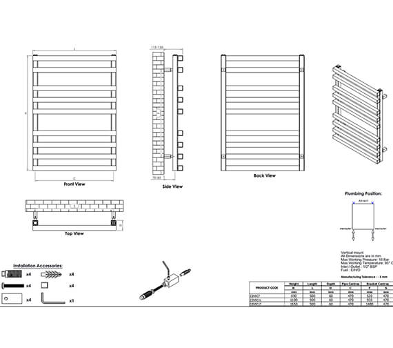 Technical drawing QS-V96049 / CEN5C7S