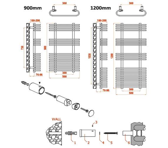 Technical drawing QS-V20723 / RND-MRS5090