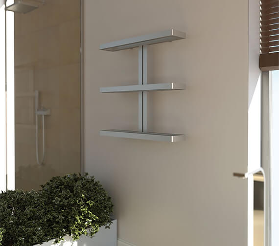 Aeon Gallant 780 x 750mm Stainless Steel Heated Towel Rail
