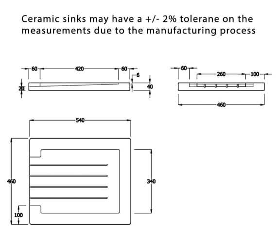 Additional image of Reginox Belfast Contemporary Ceramic Kitchen Sink 595 x 455mm