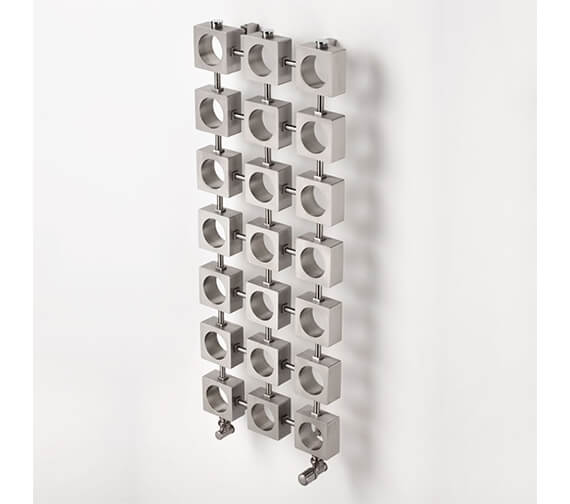 Additional image of Aeon Lokum 400mm Wide Stainless Steel Central Heating Designer Radiator