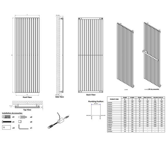 Technical drawing QS-V96230 / LUN1505S