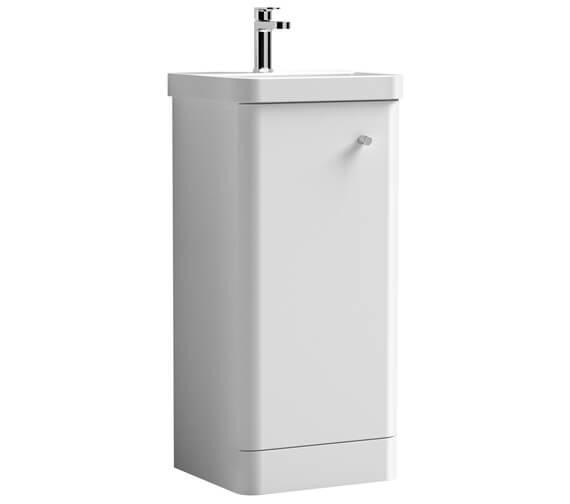 Nuie Core 405 x 355mm Floor Standing Single Door Vanity Unit And Basin