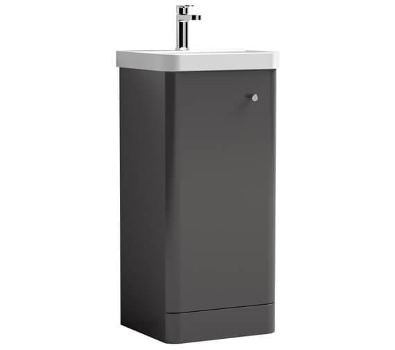 Additional image of Nuie Core 405 x 355mm Floor Standing Single Door Vanity Unit And Basin