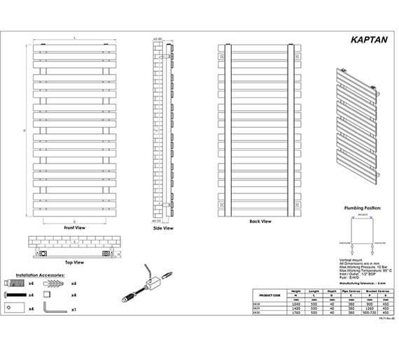 Technical drawing QS-V96071 / KA18S