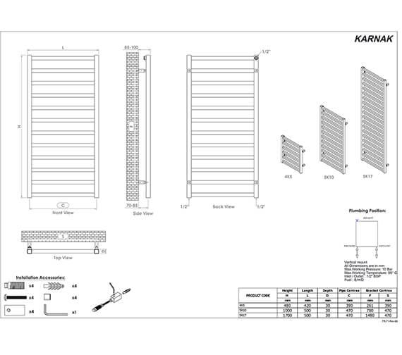 Technical drawing QS-V96228 / 4K5S