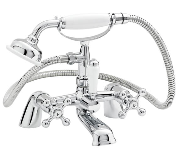Nuie Viscount Bath Shower Mixer Tap With Large Handset