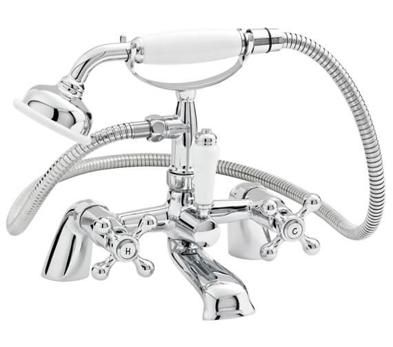 Nuie Premier Viscount Bath Shower Mixer Tap With Large Handset