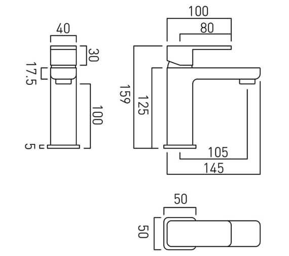 Technical drawing QS-V24399 / PHA-200MF/SB-C/P