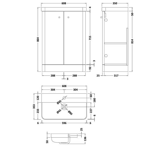 Technical drawing QS-V93980 / COR104