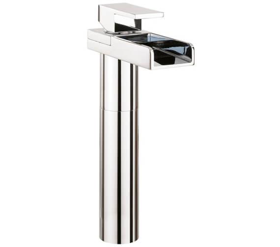 Crosswater Water Square Tall Monobloc Basin Mixer Tap - WS112DNC