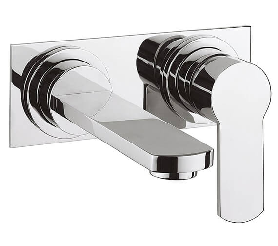 Crosswater Wisp 2 Hole Wall Mounted Basin Mixer Tap Set With Back Plate