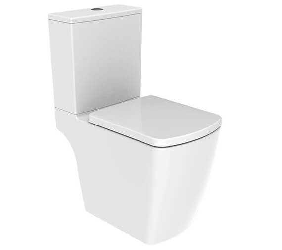 IMEX Ravine Open Back 620mm Short Projection Rimless WC With Cistern