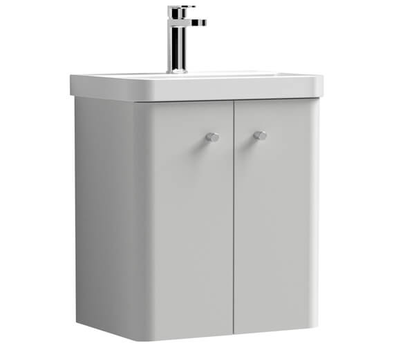 Nuie Core 540mm High Wall Hung Two Doors Vanity Unit And Basin