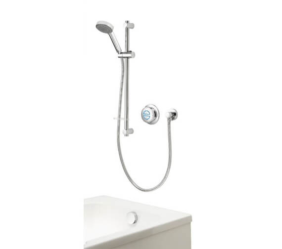 Aqualisa Quartz Concealed Digital Divert Shower And Bath Fill - Gravity Pumped