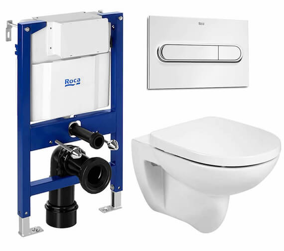 Additional image of Roca Debba Rimless Wall-Hung WC Pan 540mm Projection