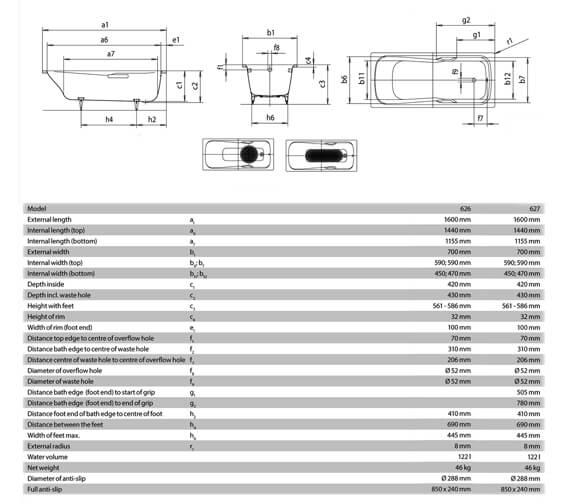 Technical drawing QS-V19350 / 226800010001