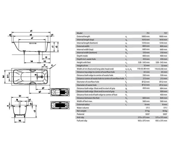 Technical drawing QS-V75937 / 275100010001