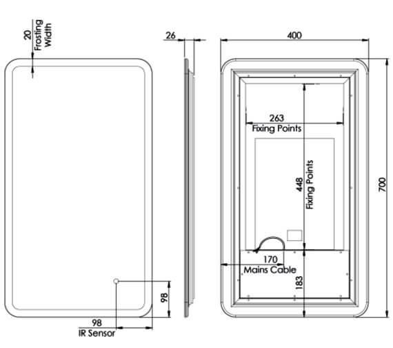 Technical drawing QS-V83909 / AS40ALC
