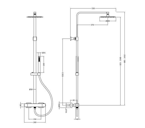 Technical drawing QS-V98556 / A3530