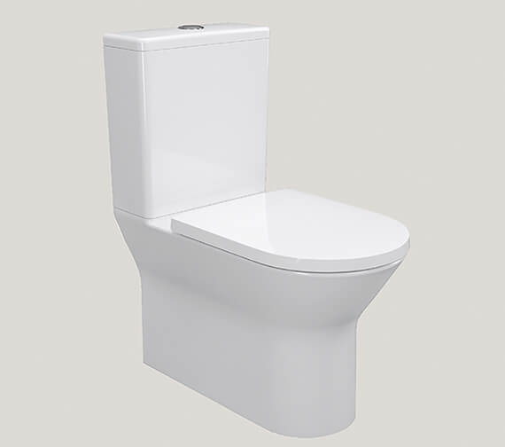IMEX Blade 660mm Rimless Comfort Height Closed Back Close Coupled Pan And Cistern