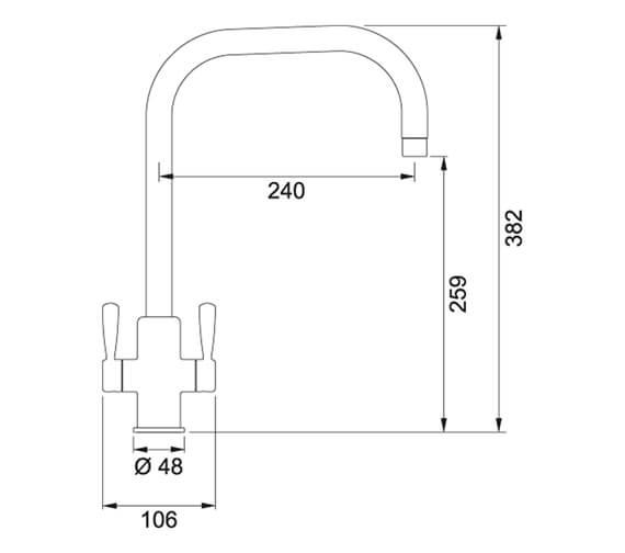 Technical drawing QS-V105022 / 115.0535.843