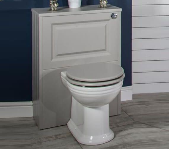 Silverdale Back To Wall Unit With Victorian Pan And Concealed Cistern