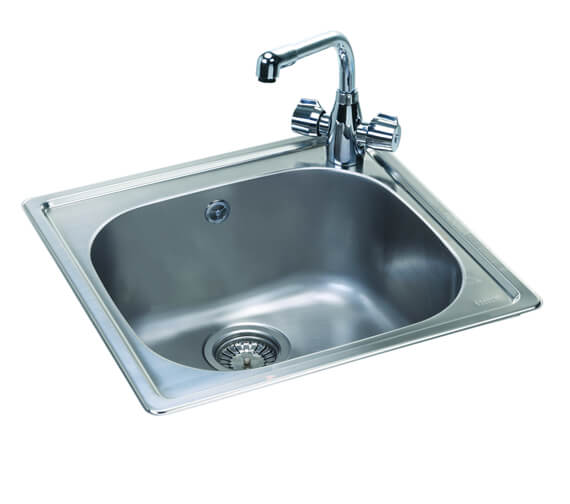 Carron Phoenix Pacific 50 Polished 1.0Bowl Sink