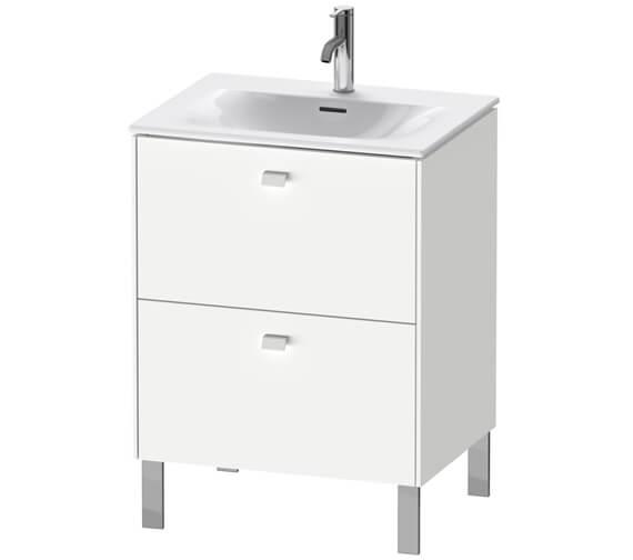 Duravit Brioso Floor Standing 2 Drawer Compact Vanity Unit For Viu Basin