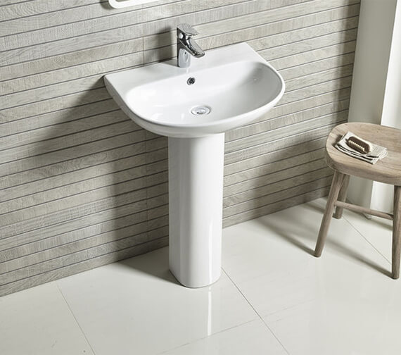 Tavistock Orbit Wall Hung 550mm 1 Tap Hole Basin