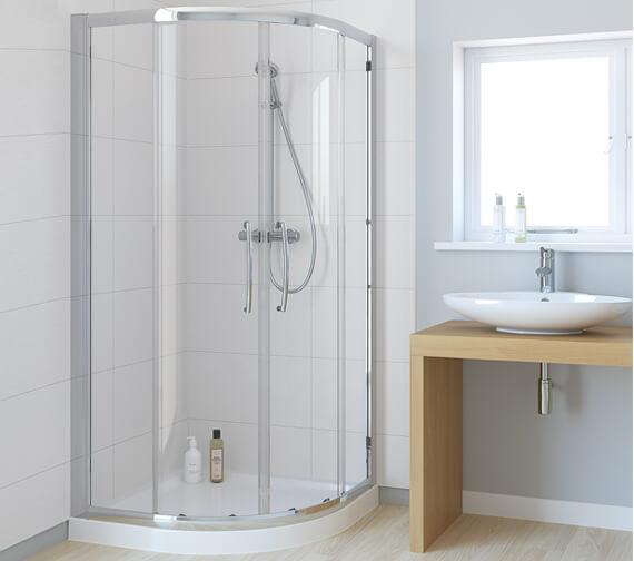 Lakes Classic Double-Door Offset Quadrant Shower Enclosure