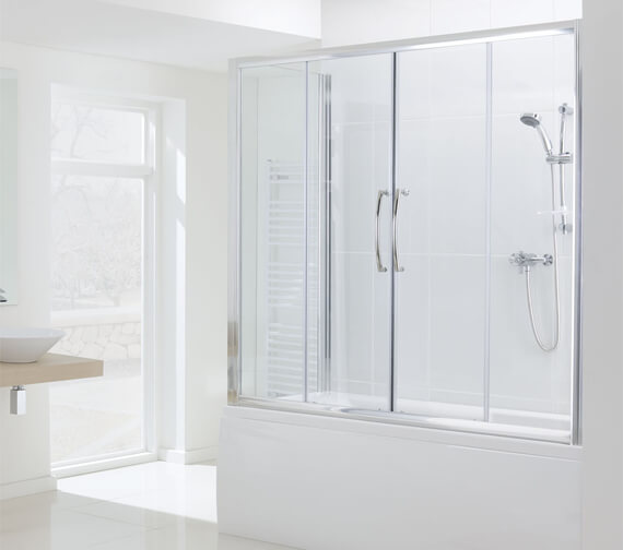 Additional image of Lakes Classic Over Bath Semi Frame-less Double Slider Door