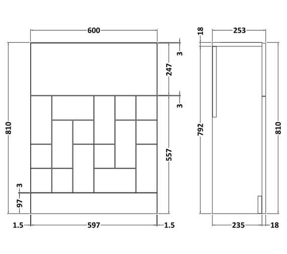 Technical drawing QS-V93991 / MOF142A