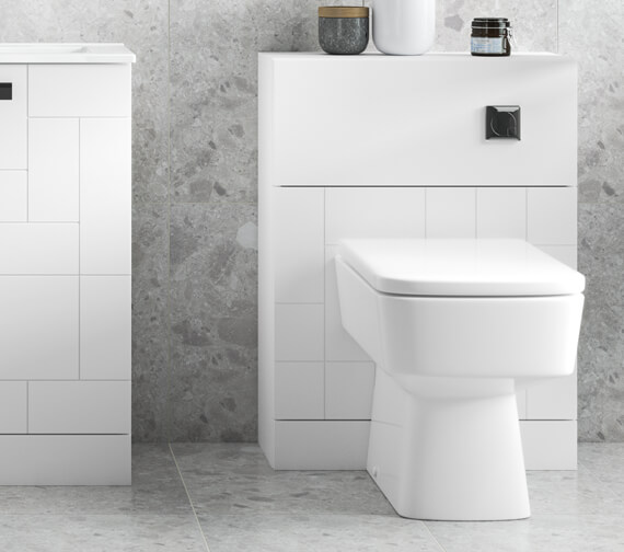 Nuie Blocks 600 x 253mm Floor-Standing Back To WC Unit