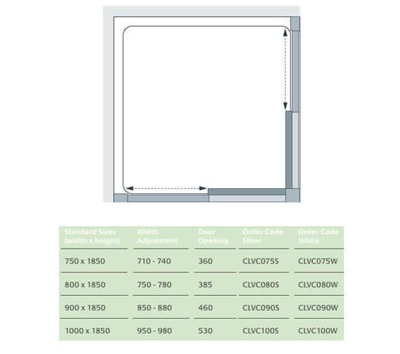 Technical drawing QS-V25103 / 2 x CLVC075S
